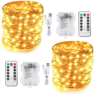 3AA Battery USB Fairy Decorative LED Copper Wire String Light