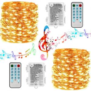3AA Battery Music Christmas Wedding Party Fairy Copper Wire LED