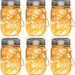 Solar Mason-Jar wiht Fairy Light